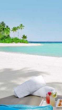 Amazing beach, white sands blue sky. The perfect vacation Maldives island