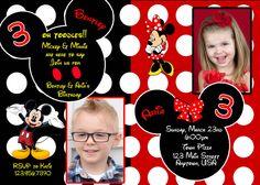 Mickey Mouse duel  Birthday Invitation