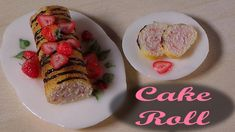 Simple Polymer Clay Cake Roll - Miniature Food Tutorial