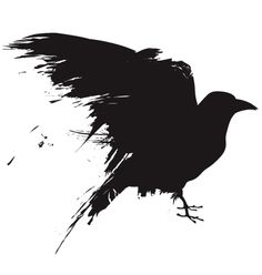 "Raven Silouette - something like this in red... ""Red Crow"""
