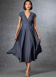 Sewing patterns for fashion clothing, crafts and home decorating. Dress sewing patterns, evening and prom sewing patterns, bridal sewing patterns, plus costume and cosplay sewing patterns. Vogue Patterns, Date Dresses, Summer Dresses, Dresses Dresses, Holiday Dresses, Miss Dress, Dress Sewing Patterns, Linnet, Wrap Dress