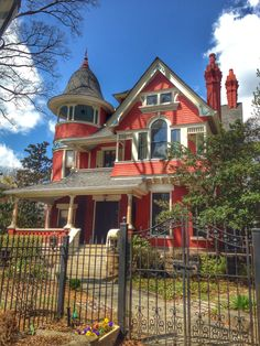 We love the brightly colored homes in Atlanta's Inman Park neighborhood!