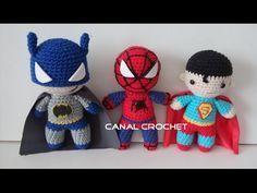 CANAL CROCHET: Super Heroes amigurumi free pattern.