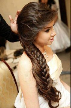 Wedding-Bridal Hair Styles-Perfect Hair Styles For Party Occasions-Indian-Pakistani Gorgeous Hair Style 2014 - Fashion & Style 2014 Braided Hairstyles For Wedding, Party Hairstyles, Latest Hairstyles, Messy Hairstyles, Bridal Hairstyles, Hairstyle Ideas, Hairstyle Wedding, Hair Wedding, Hair Ideas
