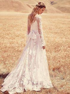 Free People boho long-sleeve wedding dress