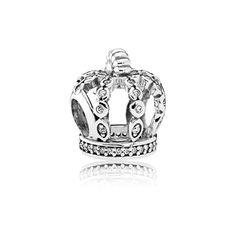 European CZ Crystal Crown Charm Bead, Large Hole Bead, Fits 925 Silver or Pandora Charm Bracelet / Necklace Rose Gold Charms, Silver Charms, 925 Silver, Sterling Silver, Silver Beads, Pandora Bracelets, Pandora Jewelry, Bracelet Charms, Charm Bracelets