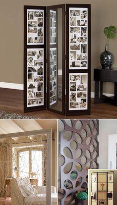 O uso mais comum para o biombo é dividir ambientes. Em casas ou apartamentos que não tem muitas paredes como por exemplo lofts, quitinetes