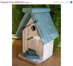 40% Off Easter Sale.....Reclaimed Barnwood BirdhouseNautical by TallahatchieDesigns