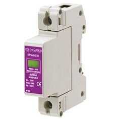 A1SPM/6/230 - 6kA Single Phase (L-N, L-E) (w/o Remote Connector) - Type 2 Test Class II - This modular #surgeprotection #device provides #protection of equipment connected to incoming low voltage AC power supplies against the damaging effects of transient over voltages caused by local #lightning strikes, or the switching of electrical inductive or capacitive loads.