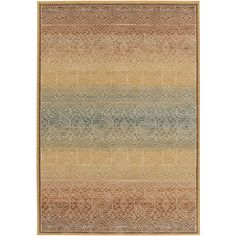 This Arabesque Collection rug has a global style with it's multicolored background and tribal style pattern. From Surya. (ABS-3041)