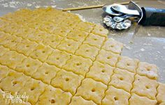 Here's a fun recipe for cheesy crackers! The kids will think it is fun to make and eat their own crackers. And you will like that they are made with simple ingredients, no artificial colors or flavors, and no preservatives. You know exactly what is in them and you can customize them to your taste and needs.