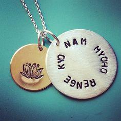 Nam Myoho Renge Kyo Necklace by sudlow on Etsy, $60.00