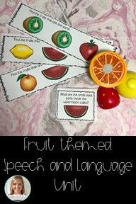 This fruity speech and language unit is perfect for your mixed groups since it targets articulation, following directions, basic concepts, vocabulary, WH questions, and pronouns. It also includes sentence frames and an interactive book!