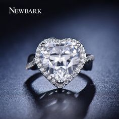 Find More Rings Information about NEWBARK New Arrival Classic Women Engagement…