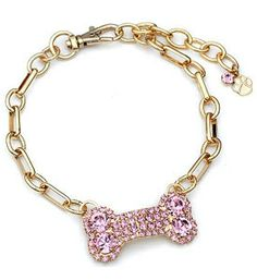 Pet Necklace Bone Pink