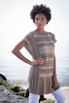 Berroco Medina Gelato Tunic Sweater Knitting Pattern PDF Download