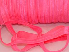 10 Yards PASSION FRUIT Neon Shiny Bright Fold Over Elastic Foe 5/8 in - Emi Jay Material - DIY Hair Ties Headbands Soft Stretchy No Pull on Etsy, $3.25