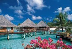 Hotel Four Seasons Hotel Bora Bora Maldives Honeymoon, Honeymoon Destinations, Beautiful Places In The World, Beautiful Places To Visit, Beautiful Scenery, Amazing Places, Mexico Vacation, Vacation Spots, Romantic Vacations