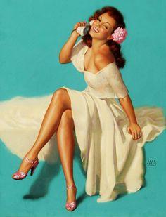 Marilyn Monroe posed for this Earl Moran illustration c. 1948