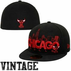 844f9fd99b50b New Era Chicago Bulls City Series 59FIFTY Fitted Hat - Black Red