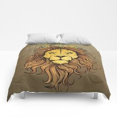 King Lion Comforters by MIKART | Society6