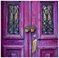 radiant orchid colored door