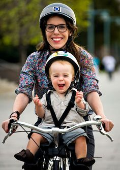 A couple baby bicycle seat recommendations from A CUP OF JO.