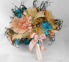 Wedding Bouquet Bridal Bouquet Feather Bouquet by parfaitplumes, $180.00