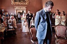 gli ultimi secondi prima di vedere la sposa, un momento bellissimo e molto intenso...