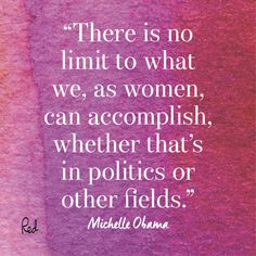 Inspiring Quotes For International Women's Day- Michelle Obama