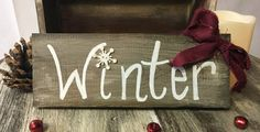 Winter sign by MegsMNCrafts on Etsy