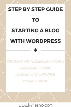 Choosing a domain and hosting, logging in to wordpress, installing a theme Master Internet, Make Money Online, How To Make Money, Blog Tips, Step Guide, How To Start A Blog, Case Study, Internet Marketing