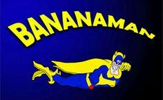 Bananaman logo from the 80s cartoon.