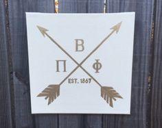 Pi Beta Phi Hipster Arrow Canvas - Square