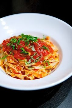 Tomato Tagliatelle: Thermomix Recipe