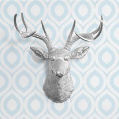 The Virginia in Silver  Faux Deer Head  Fake by FauxTaxidermyLoft, $84.97