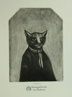Cat art by Jan Terje Rafdal under his alter ego Felix Fiigenschou, Norway.