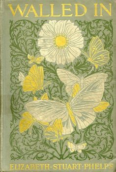 Gorgeous vintage book cover illustration in yellow and green!
