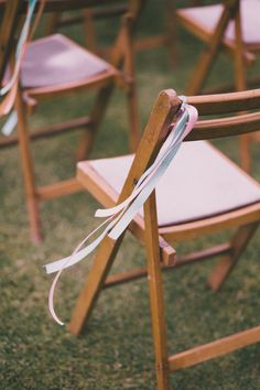 Ribbons On Seats For Wedding