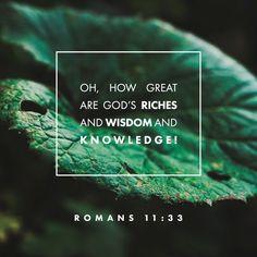 Romans 11:33, English Standard Version (ESV)