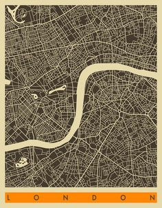 Map of London, by Jazzberry Blue