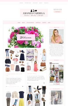 Love the clean simplicity of this feminine website design. Just beautiful. Running on an Angie Makes Wordpress theme.