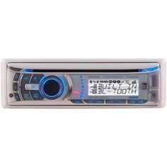 Marine Single-DIN In-Dash CD Receiver with Bluetooth(R), Weather Band & iPod(R) Control - DUAL - AMB600W
