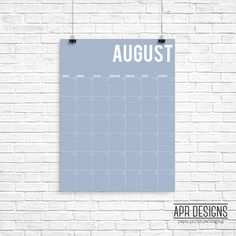 Oversized Calendar Art model, bold & colorful wall calendar for your home or office decor.  I N S T A N T D O W N L O A D F E A T U R E S : 1. PDF File - size 18x24 inches (sizable)  W H A T Y O U N E E D T O K N O W : 1. I offer size customization for free, just contact me after your purchase and let me know in which size would you like your file to be.  2. This item is a DIGITAL download item, NO PHYSICAL item will be shipped to your address.  3. Your purchase does not include a frame o...