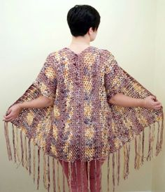 Free Crochet Pattern |Summer Sunset Kimono | Made from 2 rectangles |SoRo Bella Creations