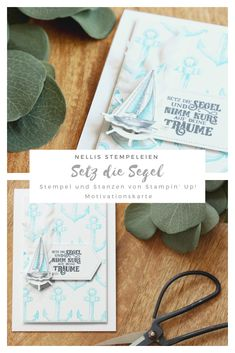 Sailing Home von Stampin' Up! Creative, Stampin Up, Sailing, Catalog, Place Card Holders, Craft Ideas, Cards, How To Make, Paper