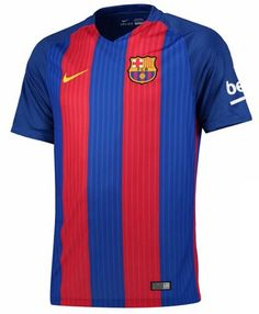 Your kid can bring his Barcelona passion to the pitch with this Nike Home Jersey! The Barcelona graphics on this gear will let everyone know what club he supports. In this Barcelona apparel, he will celebrate goal after goal in Nike comfort. Barcelona Jerseys, Barcelona 2016, Barcelona Football, Messi 10, Soccer Shop, Sports Fan Shop, Nike Football, Football Shirts, Shirts