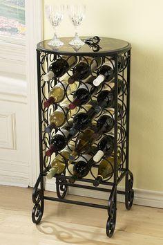 Glass Top Wine Table on @HauteLook