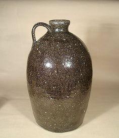 Catawba Valley Pottery 2 Gallon Jug, Alkaline Glaze, North Carolina citca, 1890