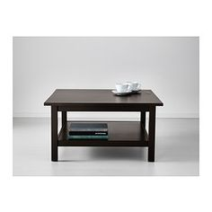 IKEA - HEMNES, Coffee table, black-brown, , Solid wood has a natural feel.Separate shelf for magazines, etc. helps you keep your things organized and the table top clear.